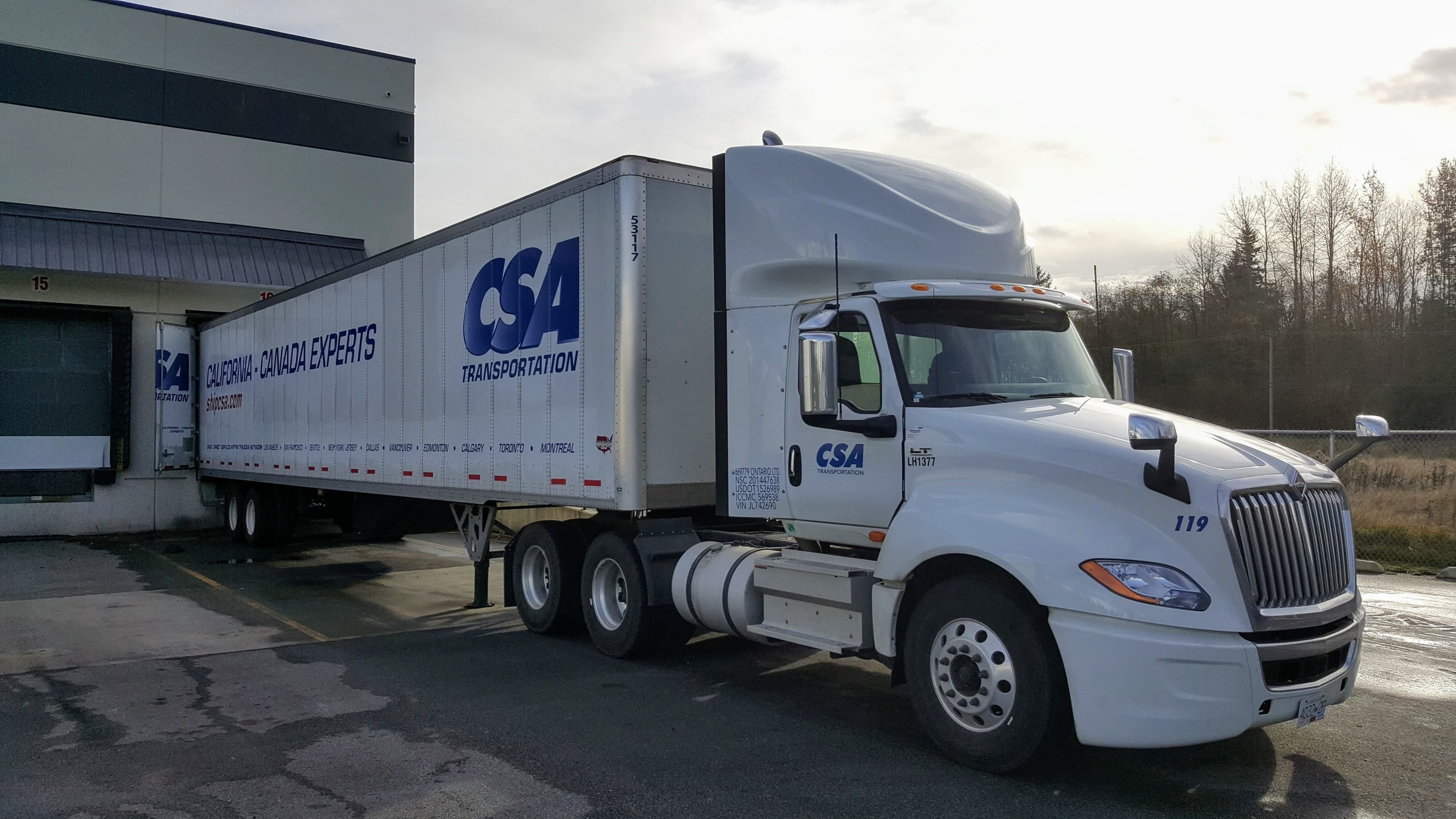 CSA Transportation LTL Freight Shipping