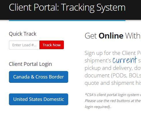 Tracking Regions of the Client Portal